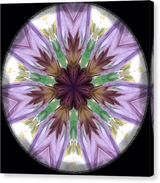 Mandala Canvas Print - #iris #mandala 1.  Original Photo by Purr Spex