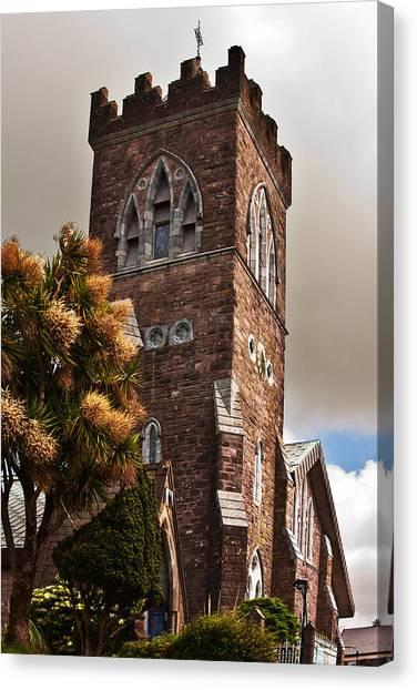 Canvas Print featuring the photograph Irish Church by Edward Peterson