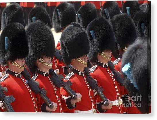 Royal Guard Canvas Print - Irish Guards March Pass During The Last by Andrew Chittock