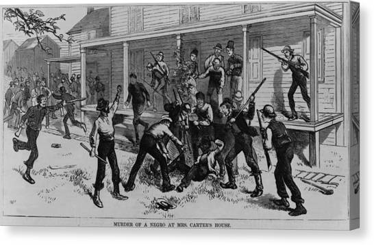 Oppression Canvas Print - Irish Laborers Killing An African by Everett