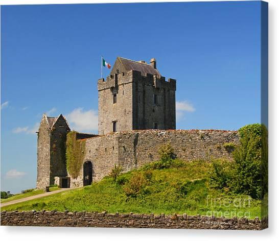 Irish Travel Landscape Dunguaire Castle Ireland Canvas Print