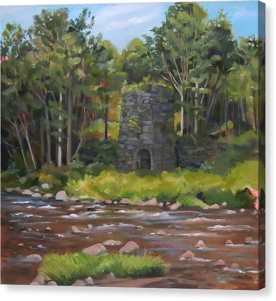Iron Furnace Of Franconia New Hampshire Canvas Print