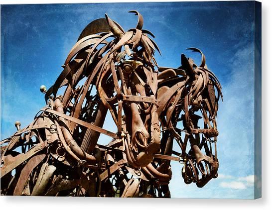 Canvas Print featuring the photograph Iron Horse by Matt Hanson