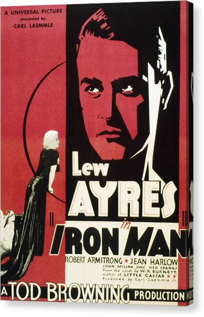 Iron Man, Jean Harlow, Lew Ayres, 1931 Canvas Print by Everett