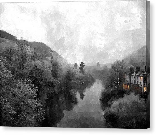 Ironbridge Winter Canvas Print