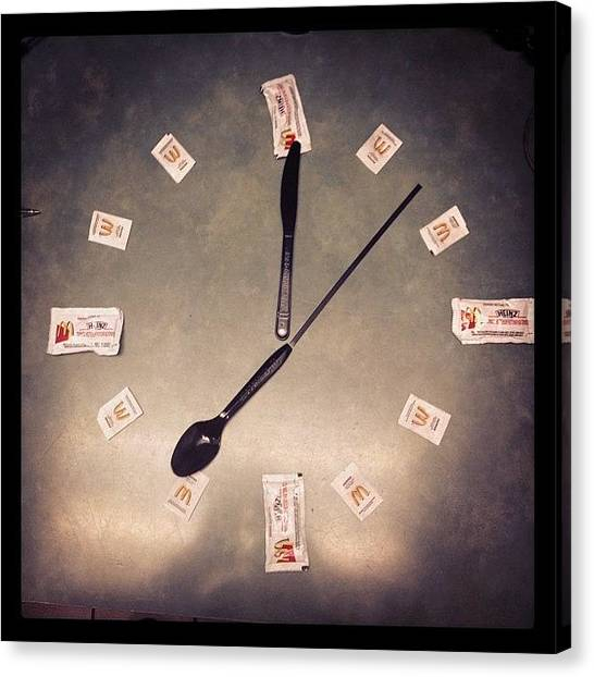 Ketchup Canvas Print - Is It #time To Go Home Yet? by Katrina A