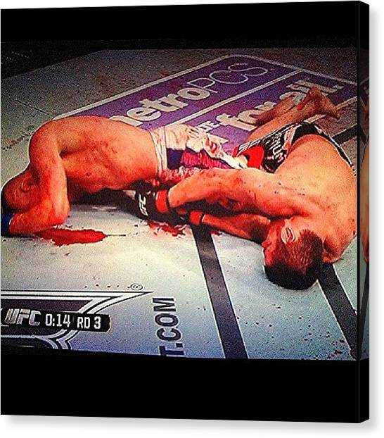 Ufc Canvas Print - Is This A Fight Or A Crime by Jim Neeley