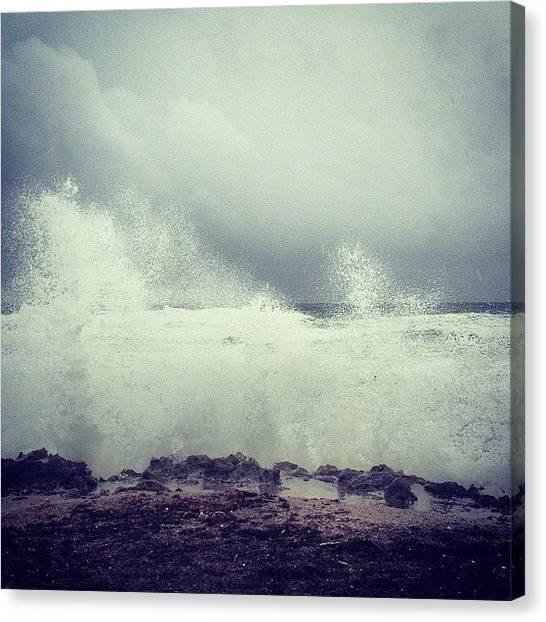 Hurricanes Canvas Print - #isaac #sunsentinel #blowingrocks by Kyle Kazoo