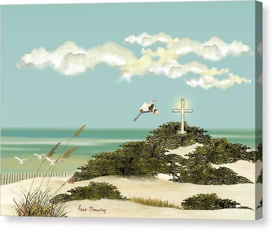 Island Cross Canvas Print