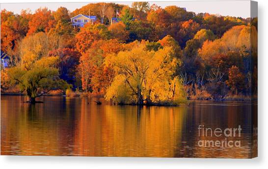 Island  In Fall Canvas Print