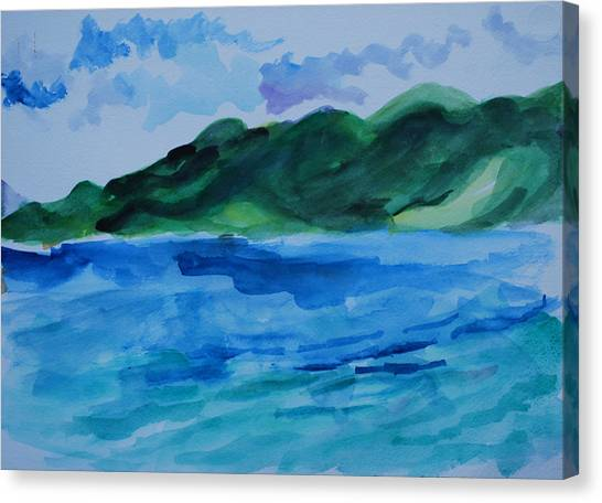 Island Landscape Canvas Print by Rufus Norman