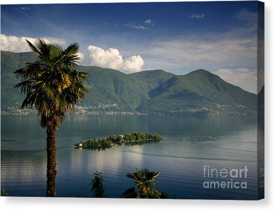 Islands On An Alpine Lake Canvas Print