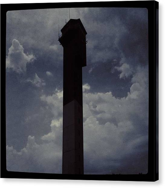 Lighthouses Canvas Print - Isle Of Palms Lighthouse by April Smith