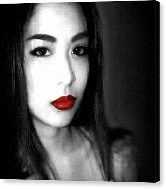 Mac Canvas Print - Isolated Red 💋 by Ica Mercado 💋