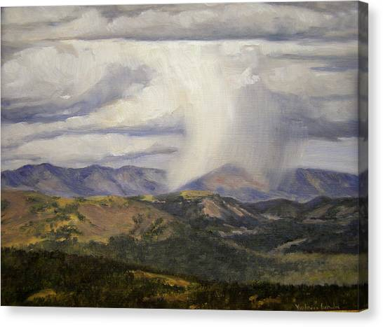 Isolated Showers Canvas Print by Victoria  Broyles