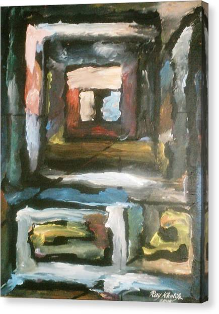 Canvas Print featuring the painting Isolation by Ray Khalife