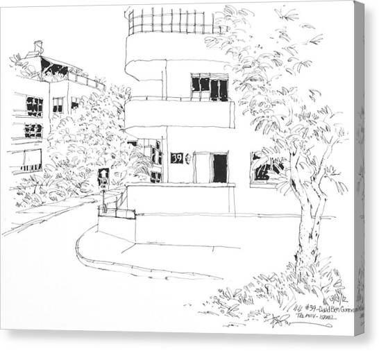 Israel Tel Aviv Building 39 Canvas Print