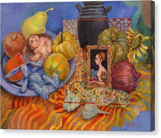 It All Began With The Squash Canvas Print by Erin Libby
