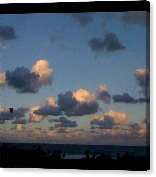 Surrealism Canvas Print - It Looked #fake Out There #yesterday by Emily W
