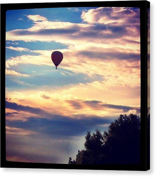Balloons Canvas Print - It Would Have Been A Cooler View In The by Travis Wright