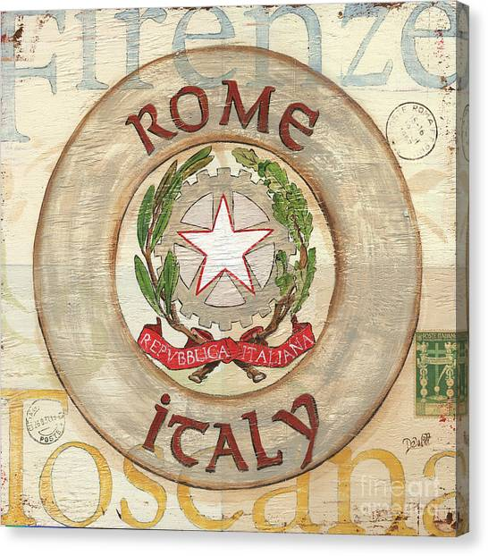 Rome Canvas Print - Italian Coat Of Arms by Debbie DeWitt