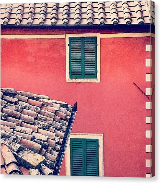 House Canvas Print - Italian Geometry #house #shutters by A Rey