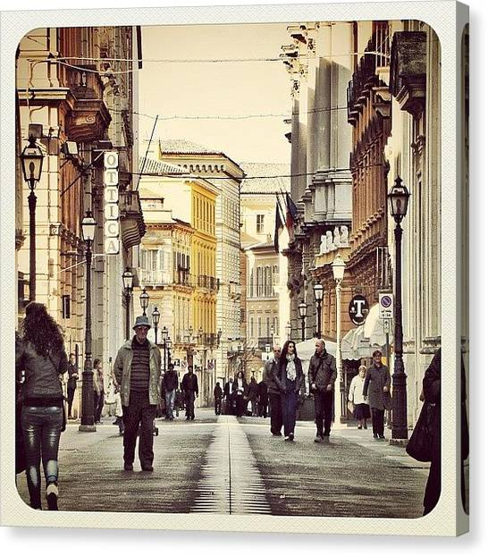 Still Life Canvas Print - Italian Main Street by Chi ha paura del buio NextSolarStorm Project