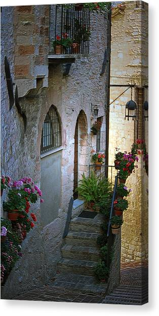 Italian Welcome Home Canvas Print