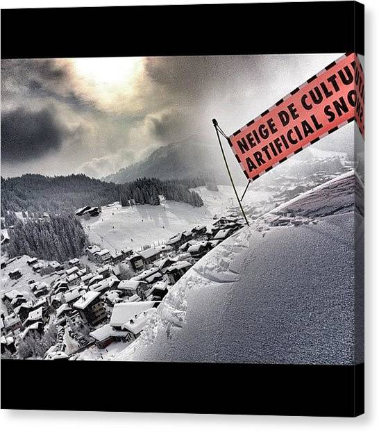 Snowboarding Canvas Print - It'll Do! #snow #france #ski by Robert Campbell