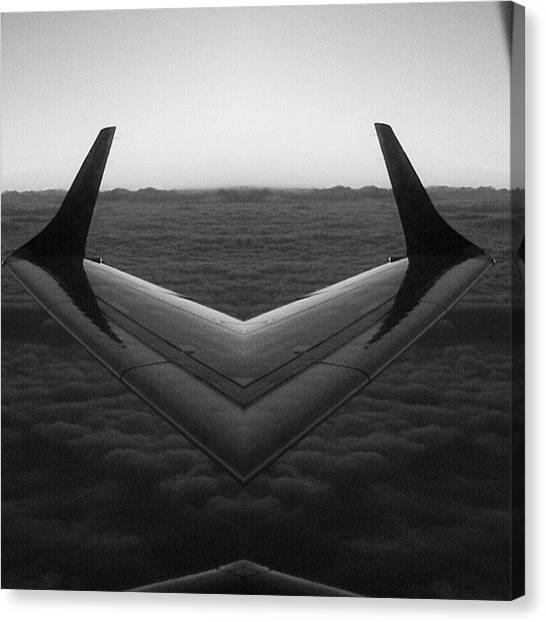 Symmetrical Canvas Print - It's A Bird, It's A Plane, It's A by Karen Maziarz
