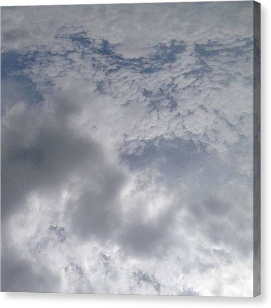 Om Canvas Print - It's A Cloudy Kind Of Day. #blue #sky by Artist Mind