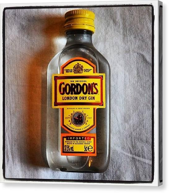 Liquor Canvas Print - It's A #gin Kinda Day 😉 #gin by Richard Randall
