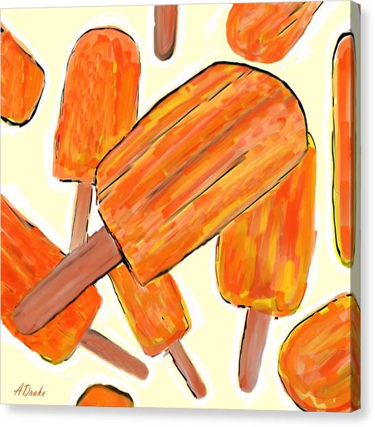Its Raining Dreamsicles Canvas Print