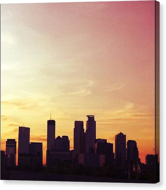 Minnesota Canvas Print - It's Too Pretty Not To Share. #skyline by Jen Hernandez