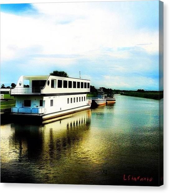 Bayous Canvas Print - I've Been Wanting To Spot A Snap A Pic by Lester Starnuto