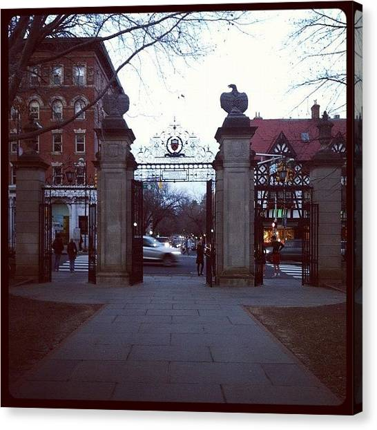 College Canvas Print - Ivy League Gates by Kristenelle Coronado