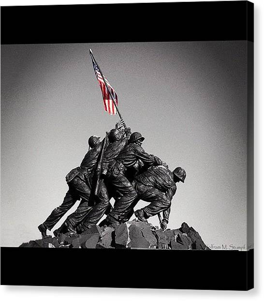 War Canvas Print - Iwo Jima by Wolf Stumpf