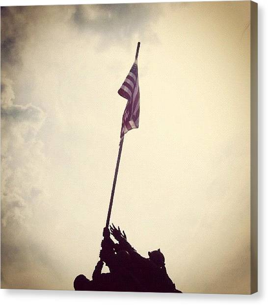 War Canvas Print - #iwojima #iwojimamemorial by Marisag ☀✌