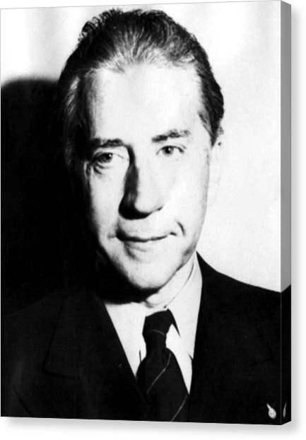 J Paul Getty Canvas Print - J. Paul Getty, 1957 by Everett