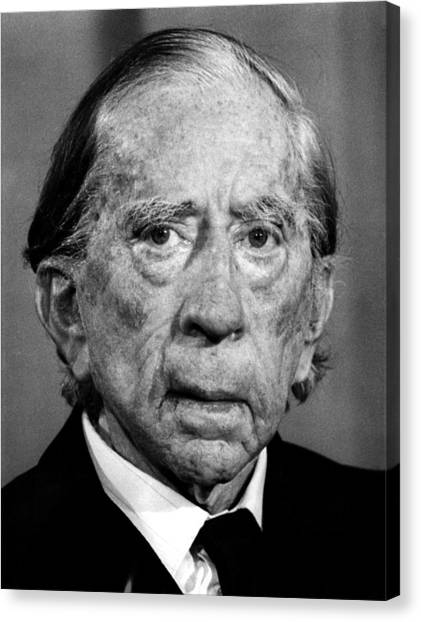 J Paul Getty Canvas Print - J. Paul Getty, 1974 by Everett