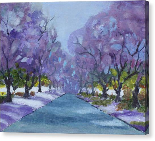 Jacaranda City Canvas Print