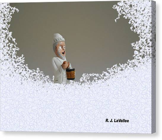 Jack Frost... Caught In The Act. Canvas Print