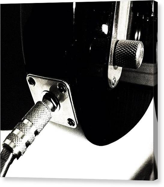 Fender Guitars Canvas Print - #jack #guitar #guitars #telecaster by Max Guzzo