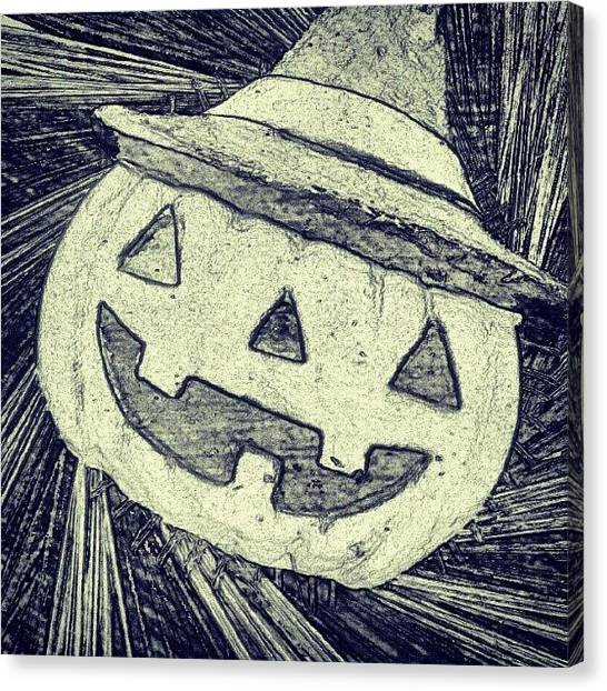 Witches Canvas Print - Jack-o-lantern Witch by Camera Hacker