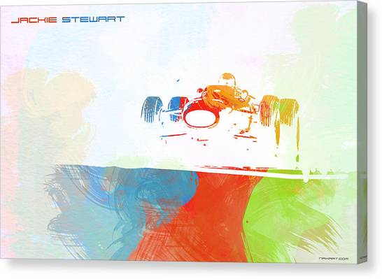 Formula Car Canvas Print - Jackie Stewart by Naxart Studio