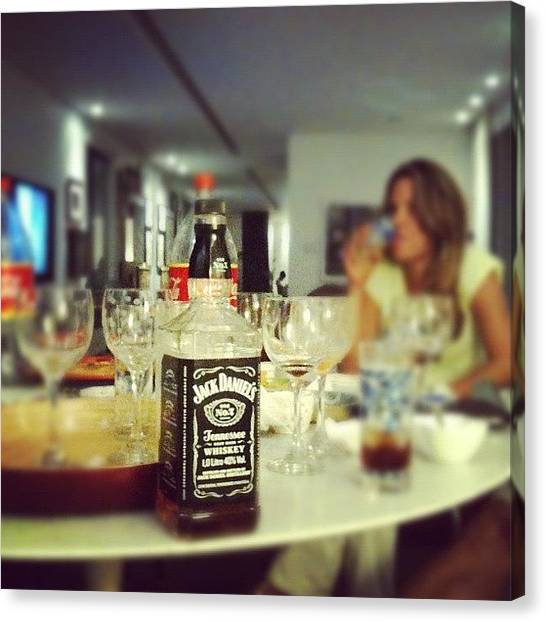 Whiskey Canvas Print - Jack'n Coke....and Friends by Leonardo Santana Jr