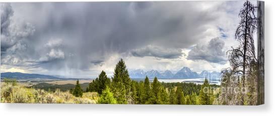 Wy Canvas Print - Jackson Hole Thunderstorms by Dustin K Ryan