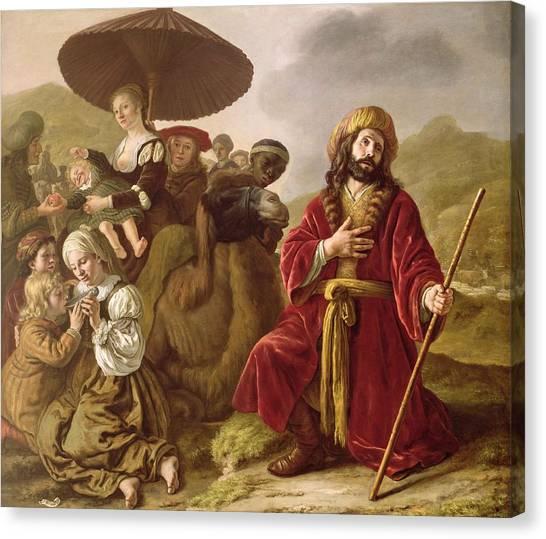 Old Testament Canvas Print - Jacob Seeking Forgiveness Of Esau by Jan Victoors