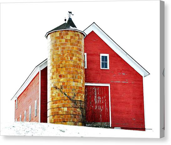 University Of Connecticut Canvas Print - Jacobson Barn by Mary Anne Williams
