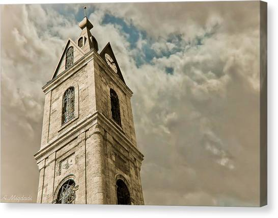 Jaffa Clocktower Canvas Print by Amr Miqdadi